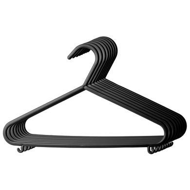 BIECO Klädgalgar 8-pack svart