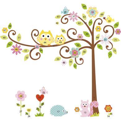 Wanddekoration - RoomMates® Wandsticker Happi Riesenbaum bunt  - Onlineshop Babymarkt