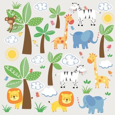 Wanddekoration - RoomMates® Wandsticker Dschungelfreunde bunt  - Onlineshop Babymarkt