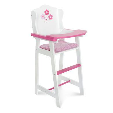 BAYER CHIC 2000 Jídelní židlička pro panenky 501 99 - bílá