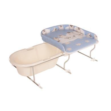 Wickelmöbel und Zubehör - Geuther Bade Wickel Kombination Varix Zebras grau  - Onlineshop Babymarkt