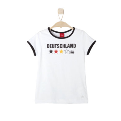 s.OLIVER Girls T-Shirt white - weiß - Unisex