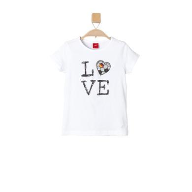 s.OLIVER Girls T-Shirt white - weiß - Mädchen