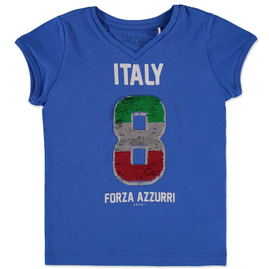 ESPRIT Girls Soccer T-Shirt Italien blue