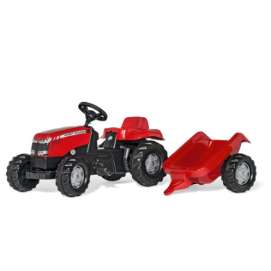 rolly®toys rollykid MF mit rollyKid Trailer 012305 rot