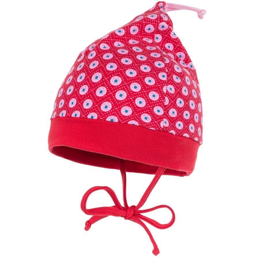 MAXIMO Mini Girls Zipfelmütze rot kreise