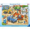 RAVENSBURGER Rámové puzzle - Velké stavební vozidla, 40 dílů