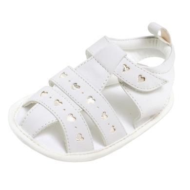 Babyschuhe - maximo Girls Babysandale Herzen weiß - Onlineshop Babymarkt