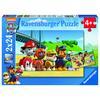 Ravensburger Puzzle 2 x 24 Teile, Paw Patrol: Heldenhafte Hunde