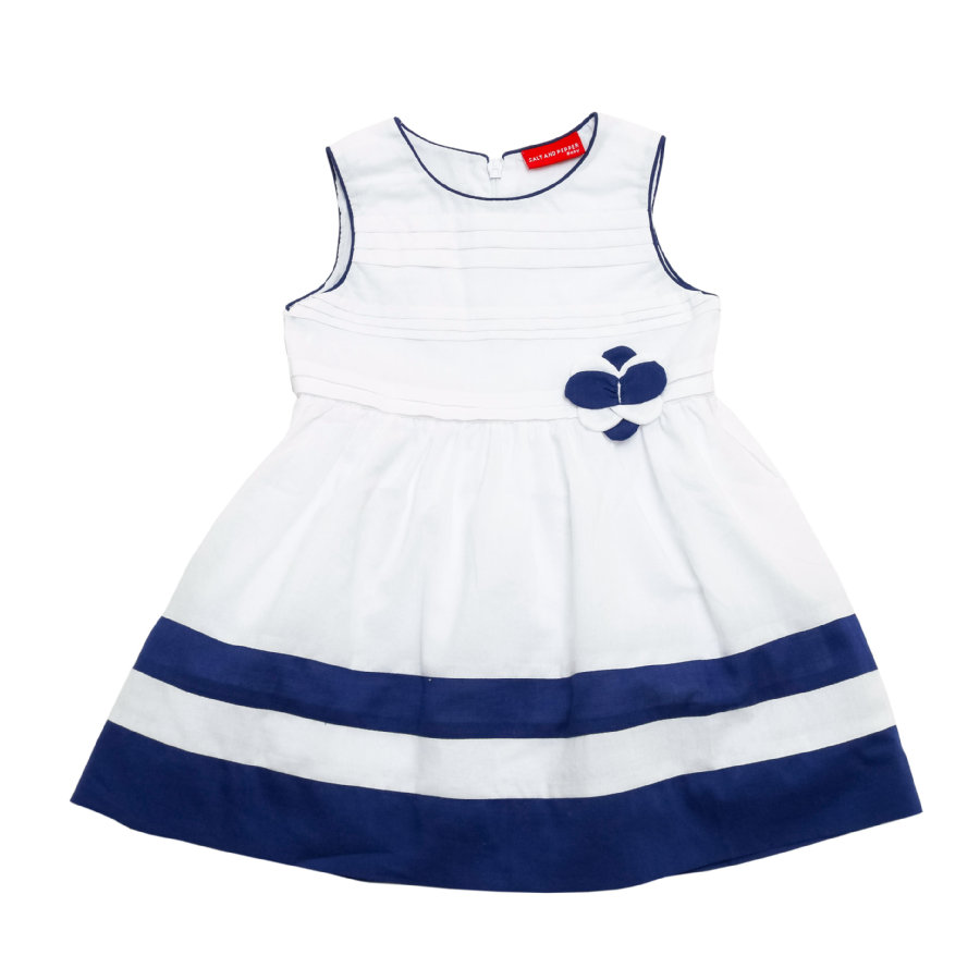 SALT AND PEPPER Girls Kleid white navy