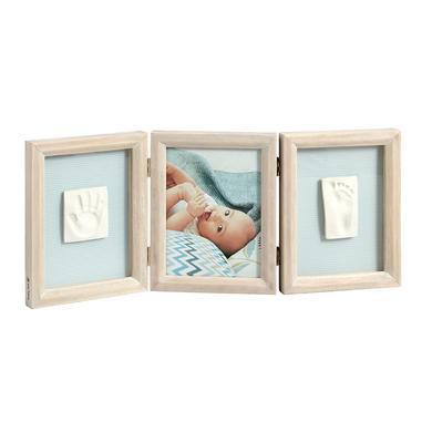 Image of Baby Art Bilderrahmen mit 2 Abdrücken für Händchen und Füßchen