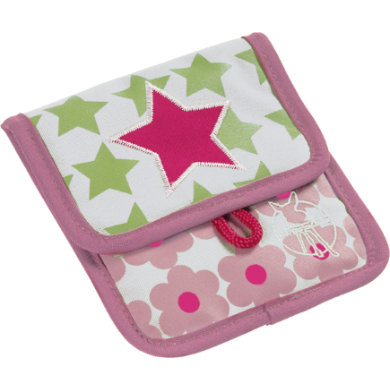 Lässig  4Kids Mini Neck Pouch - Starlight magenta - pestrobarevná