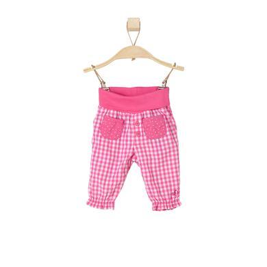 s.OLIVER Girls Hose pink check - Mädchen