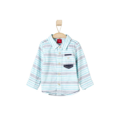 s.OLIVER Boys Košile light blue stripes - modrá