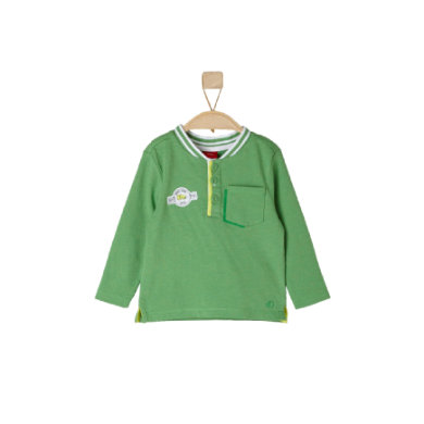 s.OLIVER Boys Longsleeve green melange - grün - Jungen