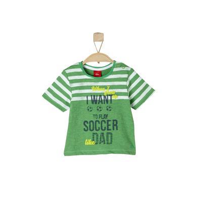 s.OLIVER Boys T-Shirt green melange - grün - Jungen