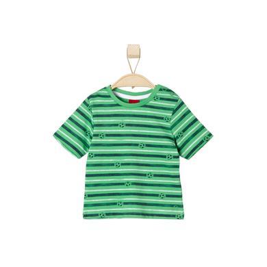 s.OLIVER Boys T-Shirt green stripes - grün - Jungen