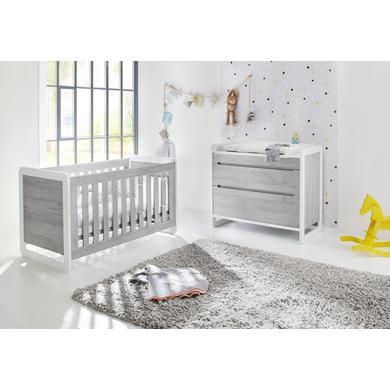 Babyzimmer - Pinolino Sparset Curve breit 2 teilig weiß Gr.70x140 cm  - Onlineshop Babymarkt