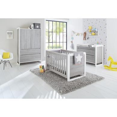 Babyzimmer - Pinolino Kinderzimmer Curve breit 2 türig weiß Gr.70x140 cm  - Onlineshop Babymarkt