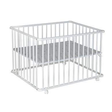 Laufgitter - Schardt Laufgitter Basic weiß 75 x 100 cm Sternchen grau  - Onlineshop Babymarkt