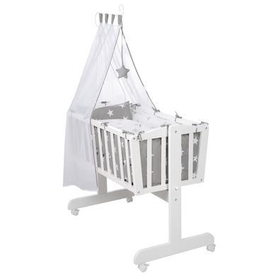 Stubenwagen und Wiegen - roba Komplettwiegenset weiß Little Stars  - Onlineshop Babymarkt