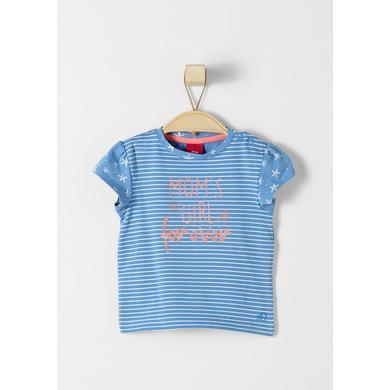 s.Oliver Girls T-Shirt blue - blau - Mädchen