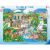 Ravensburger Rahmenpuzzle - Besuch im Zoo, 45 Teile
