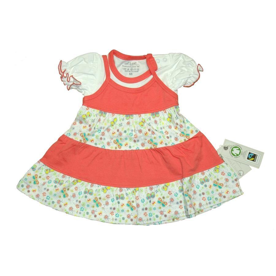EBI EBI Fairtrade Kleid peach allover