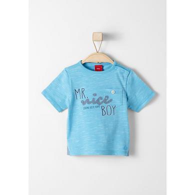 s.Oliver Baby T-Shirt blue melange - blau - Mädchen