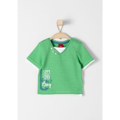 s.Oliver Baby T-Shirt green - grün - Mädchen