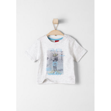 s.Oliver Baby T-Shirt white melange weiß Mädchen