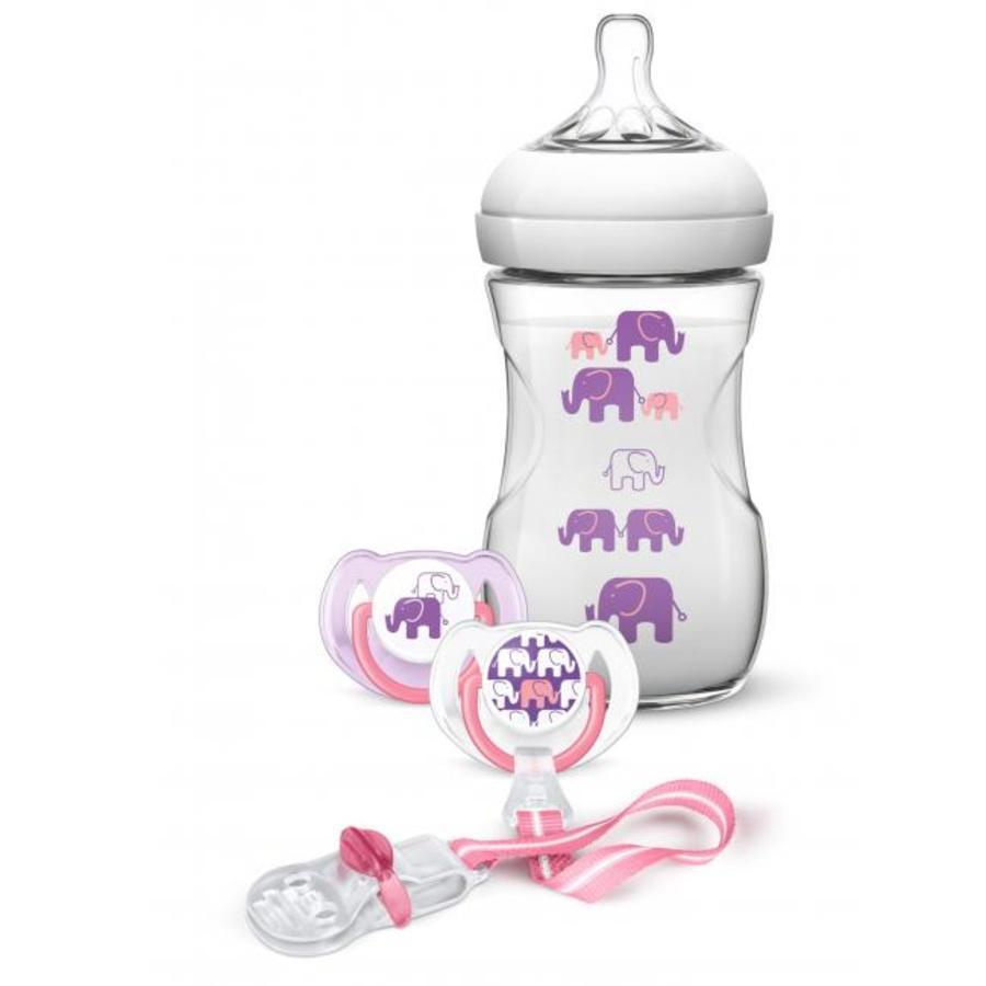 Philips Avent Geschenk-Set SCD628/01 Elefantendeko für Mädchen