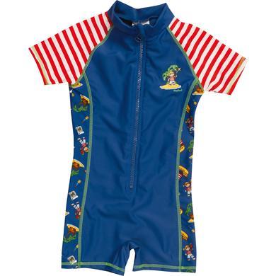 Minigirlbademode - Playshoes UV–Schutz Einteiler Piratenisel rot weiß - Onlineshop Babymarkt