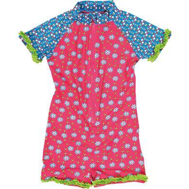 Playshoes Girls UV plavky vcelku květinkové pink