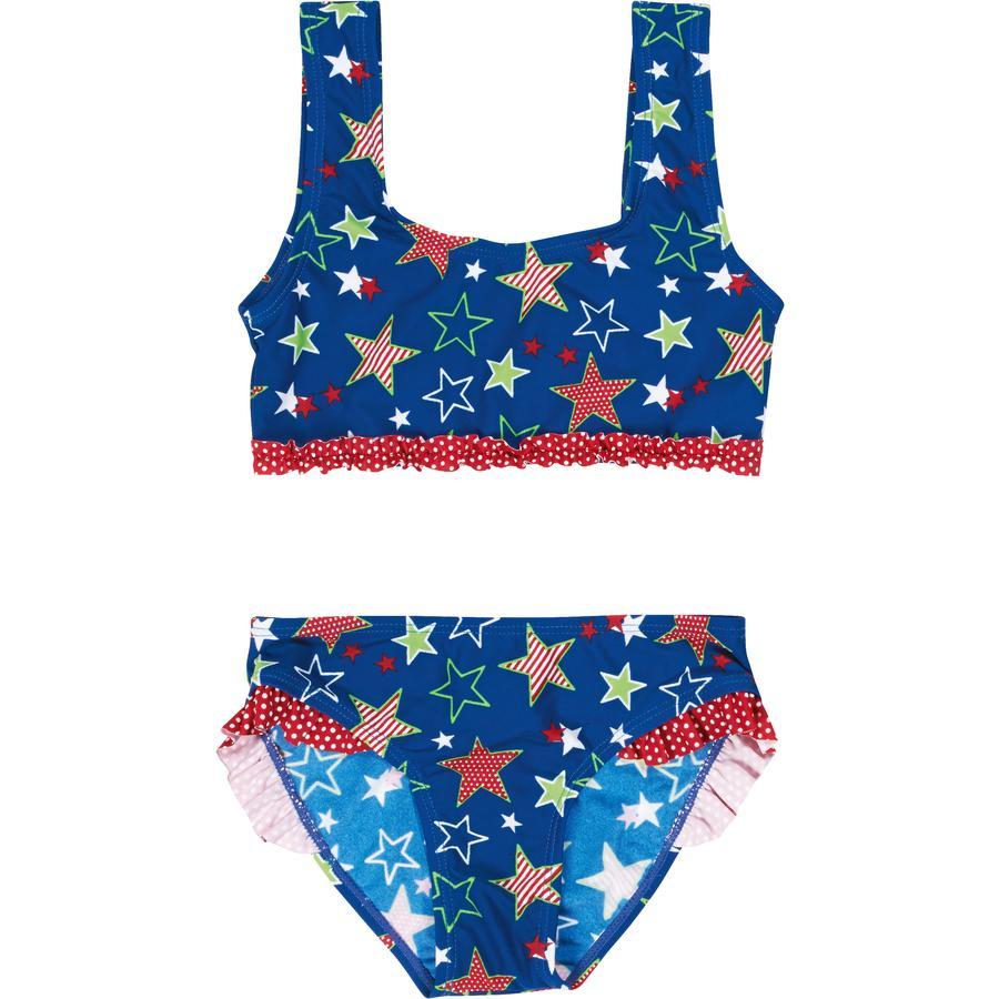 Playshoes Girls UV Schutz Bikini Sterne blau