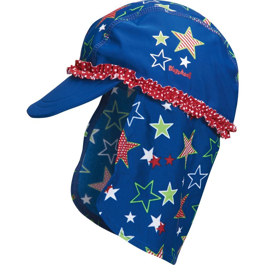PLAYSHOES Girls UV Schutz Mütze Sterne blau