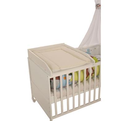 Wickelmöbel und Zubehör - roba Wickelplatte weiß inkl. Wickelauflage Vichy beige  - Onlineshop Babymarkt