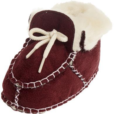 Unisex Baby-Schuh in Lammfelloptik bordeaux - rot - Unisex