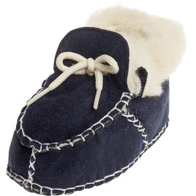 Playshoes Unisex Baby Schuh in Lammfelloptik marine blau Unisex