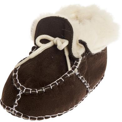 Playshoes Unisex Baby Schuh in Lammfelloptik dunkelbraun Unisex