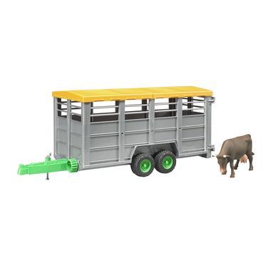 BRUDER ® Karjankuljetusvaunu ja lehmä 02227
