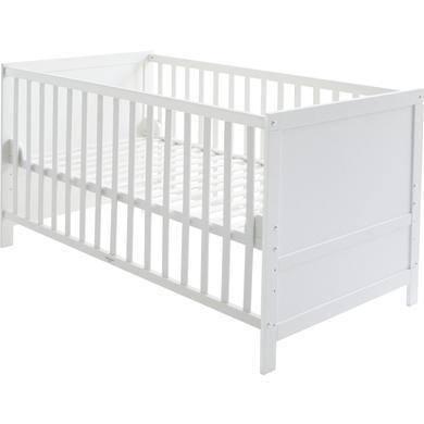 Kinderbetten - roba Kombi Kinderbett weiß Gr.70x140 cm  - Onlineshop Babymarkt
