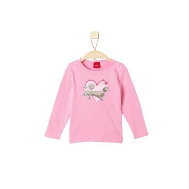 s.Oliver Girls Longsleeve light pink - Gr.92 - Mädchen