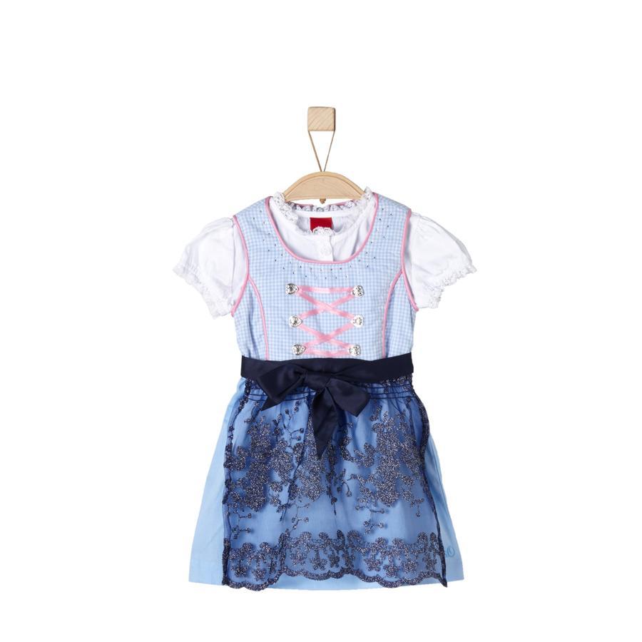 s.Oliver Girls Dirndl light blue check