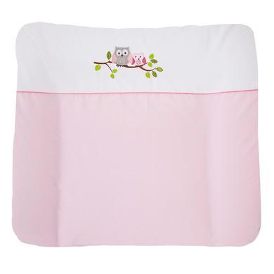 ZÖLLNER Aankleedkussen kleine uil roze