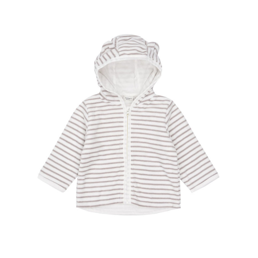 name it Baby Fleecejacke Momo snow white