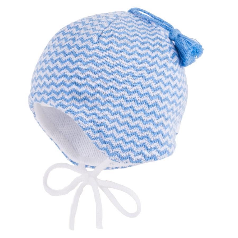 maximo Boys Mütze mit Bindeband weiß blau