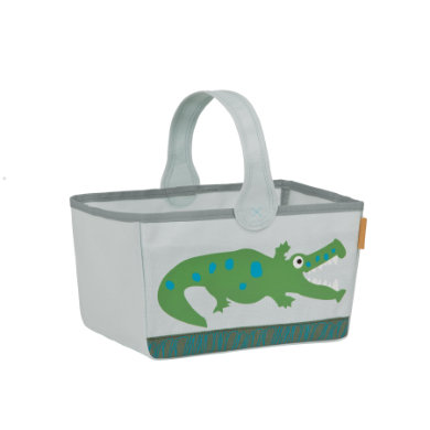 Lässig  4Kids Nursery Caddy Crocodile granny - šedá