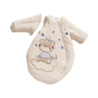 Jacky Spací pytel s odnímatelnými rukávy měkký fleece - béžová