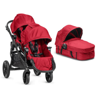 Baby Jogger Buggy City Select 4 wheeler complete set red